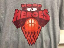 Nike HOOP HEROS GREY T Shirt sz M NBA BASKETBALL NEW
