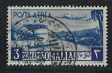 1950 Somalia Scott #C25 - 3 somali Plane over River Air Mail Stamp - Used