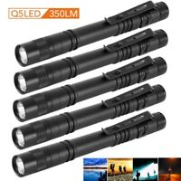 5PCS Cree-XPE-R3 LED Lamp Mini Flashlight Clip Light Penlight Portable Pen Torch