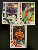 2019 Topps Series 2 All Star Inserts 150th Ann Stamp Foil #'d /150 - 3 CARD LOT