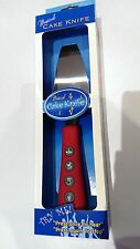 Red Musical Cake Knife, Birthday Christmas wedding & party, great gift for kids!
