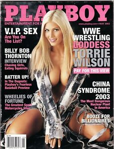Playboy Magazine May 2003 Issue WWE Torrie Wilson NEW Polybagged