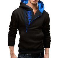 Mens Winter Warm Hoodie Hooded Sweatshirt Casual Jumper Coat Pullover Jacket Top