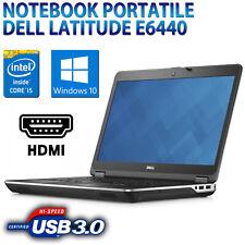 """COMPUTER NOTEBOOK PORTATILE RICONDIZIONATO DELL E6440 14"""" CORE i5 8GB SSD 240GB"""