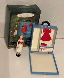 Hallmark Keepsake Miniature Silken Flame BARBIE and Mini TRAVEL CASE 2000