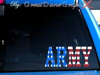 ARMY Decal in US Flag Vinyl -Decal/Sticker -HIGH QUALITY