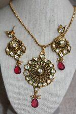 Indian traditional Kundan Jewelry, designer kundan necklace with Kundan earring