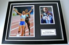 Dame Kelly Holmes Signed Framed Photo Autograph 16x12 display Olympics Gold Coa