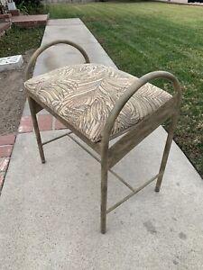 Vintage Metal Vanity Bench