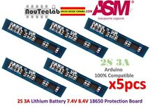 5pcs 2S 3A 18650 Charger Protection Board Li-ion Lithium Battery 7.4v 8.4V