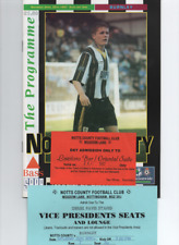 Notts County v Burnley 1997 1996/97 + 2 different tickets / passes