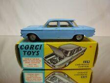 CORGI TOYS 229 CHEVROLET CORVAIR - BLUE MATT 1:43 - GOOD CONDITION IN BOX