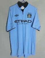 MANCHESTER CITY 2012/2013 HOME FOOTBALL SHIRT JERSEY UMBRO SIZE 44 ADULT