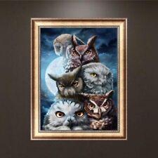 Owls 5D Diamond Rhinestone Embroidery Painting Cross Stitch Decoration DIY Craft