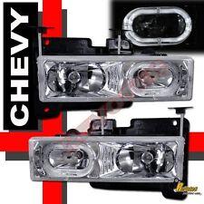 88-98 GMC Chevy Suburban Tahoe CK Yukon Halo Headlights RH + LH