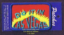 LMH PATCH Badge  DO IT IN LAS VEGAS  Slogan  NEVADA  Reno Tahoe Casino Gambling