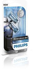 2 Bombillas Philips BlueVision Ultra W5W Xenon Blue Vision Lamparas Señalizacion