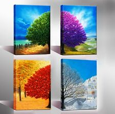 Canvas Print Painting Picture Home Decor Wall Art Poster 4 Season Trees Framed