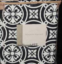Rose Tree Symphony * WINDOW VALANCE * Tailored, Black & White, NEW!