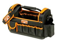 "BAHCO 450mm 17"" Hard Base Open Tote Multi Pocket Storage Hand Tool Bag, 3100TB"
