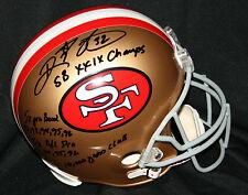 RICKY WATTERS Signed SAN FRANCISCO 49ers STAT Helmet Auto PSA/DNA 4 Inscriptions
