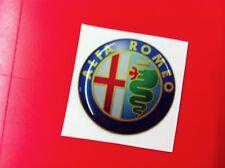 1 Adesivo Resinato Sticker 3D Alfa Romeo 40 mm new