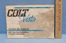1985 Plymouth Colt Vista Operating Instruction Manual Book  Product Information