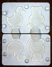Alberta's~FLAT DUCK AND BEAR~946~Vintage Ceramic Mold