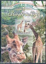 NIGER 2013 FAUNA OF AFRICA  GIRAFEE  SOUVENIR SHEET MINT NH