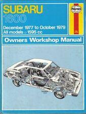 SUBARU 1600 proprietari Officina Manuale DEC 1977-Ott 1979 Haynes