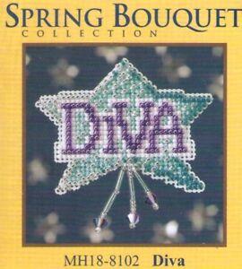 Spring Diva Glass Bead & Treasure Mill Hill Kit