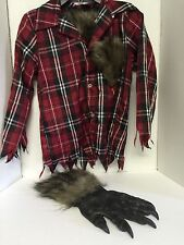 Boys Costume Ware Wolf  Size 7 Youth Shirt And One Glove Halloween Costume