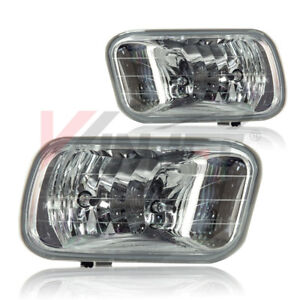For 2009-2012 Dodge Ram Clear Lens Chrome Housing Replacement Fog Lights Lamps