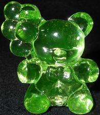 Green Vaseline glass Patrick Balloon Teddy Bear uranium figurine radioactive art