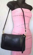 Vintage Coach Black Leather Clutch Shoulder Bag #2609