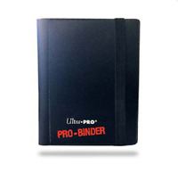 Ultra Pro 2 Pocket PRO BINDER BLACK 20 Pages Holds 80 Gaming/Trading Cards