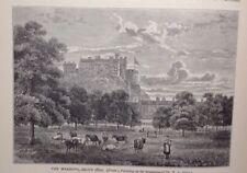 Edinburgh, The Meadows, 1880, Antique Print, Original
