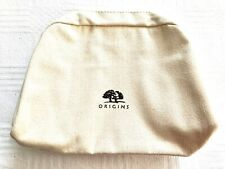 Origins Fawn Canvas Lined Make Up Cosmetic Wash Travel Soap Bag Zip Top