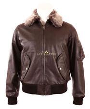 Leather Collared Bomber, Harrington Coats & Jackets for Men