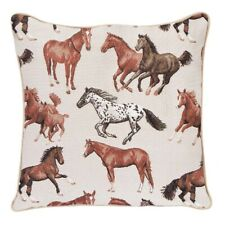 RUNNING HORSE TAPESTRY CUSHION COVER 18X18 BROWN CUSHION COVER CHRISTMAS GIFT