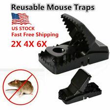 New listing 2Pcs Reusable Mouse Traps Rat Trap Rodent Snap Trap Mice Trap Catcher Killer