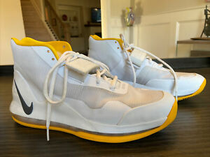 Nike Air Force Max '19 TB White Yellow Size 10.5 Uptempo AR4095-106
