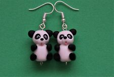 Divertido Hecho a Mano Fimo pendientes de oso panda animal lindo regalo chino