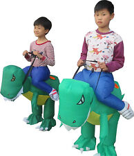 Kids Inflatable Ride On Dinosaur Fancy Dress Costume Childrens  Party Outfit