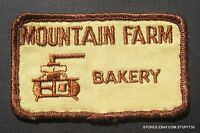 "MOUNTAIN FARM BAKERY EMBROIDERED SEW ON PATCH UNIFORM ADVERTISING 3 1/4"" x 2"""
