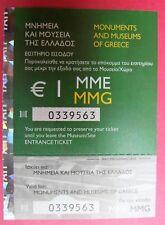 Griechenland Rhethymnon - Archäologisches Museum - Eintrittskarte used ticket