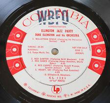 """Ellington Jazz Party Columbia """"6-eye"""" White Label Promo WBFO Radio Station Stamp"""