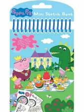 PEPPA PIG Mini Spiral Bound Sketch Book,Stickers,Colour Sheets,Crayons & Pencil