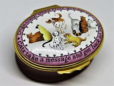 """Halcyon Days Enamel Box- """"The Difference Between Dogs & Cats"""" - Gump'S Exclusive"""
