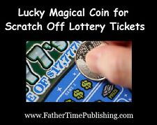 Lucky Magical Coin for Scratch Off Lottery Tickets Helps You Win Money Gambling!